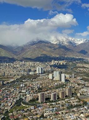 شهر تهران از نمای دور